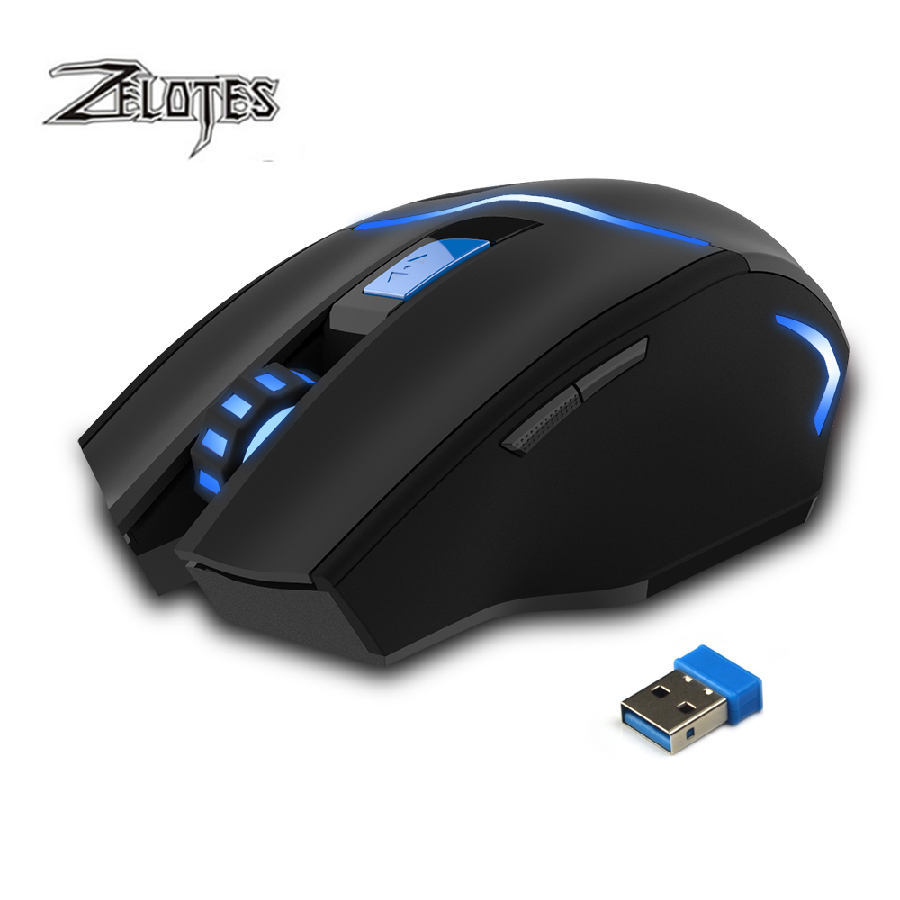 Image 2 - ZEALOT F 16 Optical 2400 DPI Wireless Gaming Mouse 2.4 GHz Portable Game Mice with USB Receiver for Computer PC Laptop-in Mice from Computer & Office