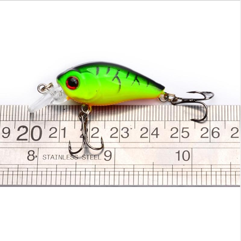 4,5 cm 4,2g señuelo de pesca Crankbait Artificial cebo duro Topwater Minnow pesca Wobblers Señuelos de Pesca señuelo