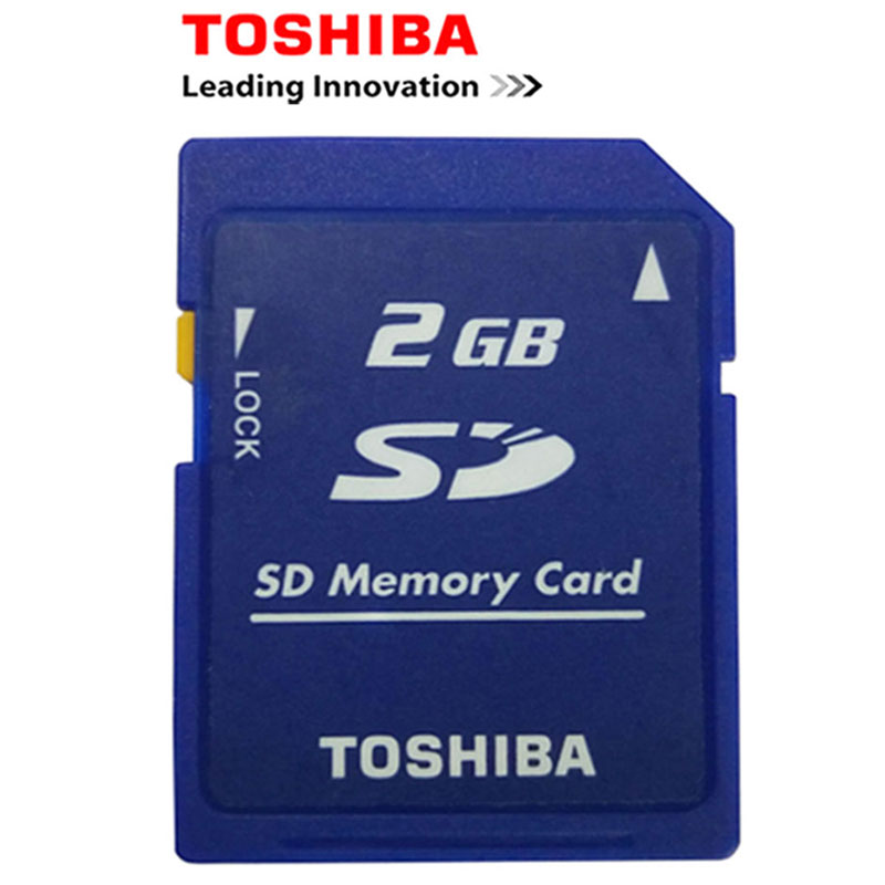 En gros Prix 10 pcs/lot Toshiba 2 gb Class2 SD Carte Carte Carte Mémoire SD et Sd-Carte Serrure Memoria SD Nouveau Pas Cher Livraison Gratuite