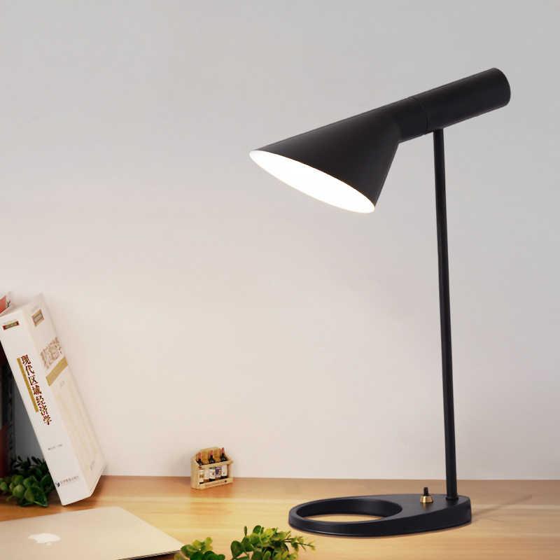 Реплика Louis Арне Якобсен светодиодный E27 настольные лампы для Спальня вариант Европа AJ настольная лампа проход кафе зал узнать светильники разъема стандарта ЕС и США
