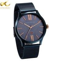 Lancardo Top Luxury Brand Quartz Watch Men Simple Japan Quartz Watch Stainless Steel Mesh Strap Clock