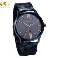 eb66da45253 Lancardo Top Marca de Luxo relógio de Quartzo dos homens Simples de Quartzo  de Japão-
