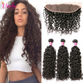 Wet And Wavy Brazilian Hair With Closure Brazilian Water Wave Virgin Hair Frontal With Bundles Ocean Wave Lace Frontal Closure