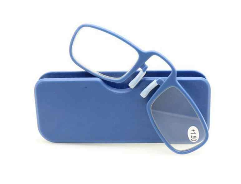 04f2698946a ... WEARKAPER New Pince Nez Style Nose Resting Pinching Portable Thin Frame  Optics Reading Glasses No Arm