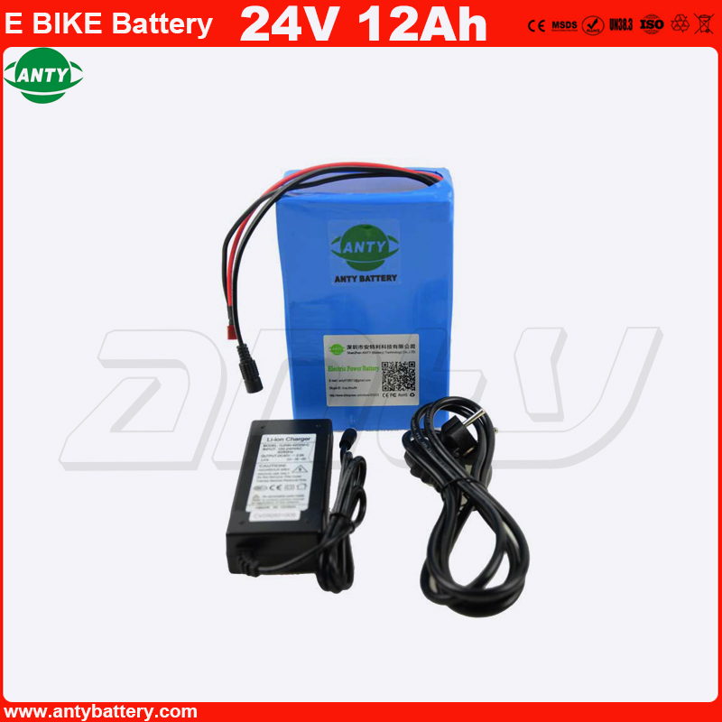 Electric Bike Battery 24V 12Ah 500W Lithium ion Battery with 2A Charger 30A BMS Rechargeable Battery 24v Free Shipping EU No TAX free customs taxes super power 1000w 48v li ion battery pack with 30a bms 48v 15ah lithium battery pack for panasonic cell