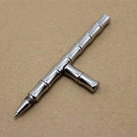 Handmade Stainless Steel Gel Pen Refilled Pen