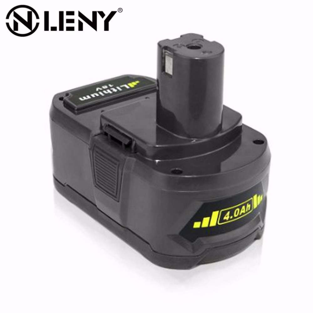 Onleny P108 RB18L40 RYOBI ONE + Lithium Ion Rechargeable Battery 18V 4000mAh for Ryobi BID1821 BIW180 Replaces P100 P103 P105 new lithium ion rechargeable cordless power tools battery for ryobi 18v p108 rb18l40 4000mah 4 0a ryobi one p104 p100 p107
