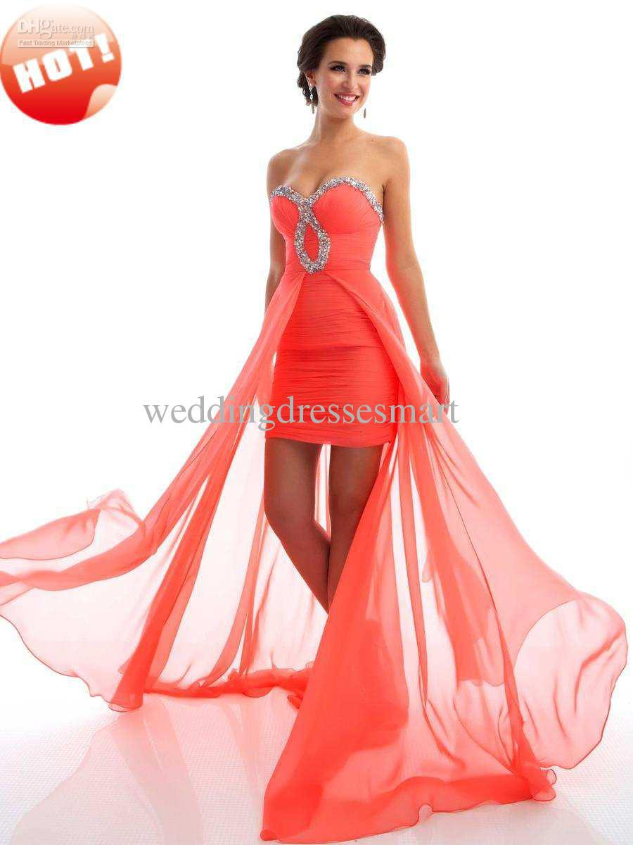 2019 year for women- Prom coral dresses high low
