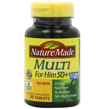 Multi for Him 50+ Multiple Vitamin and Mineral Supplement Tablets, 90-Count free shipping