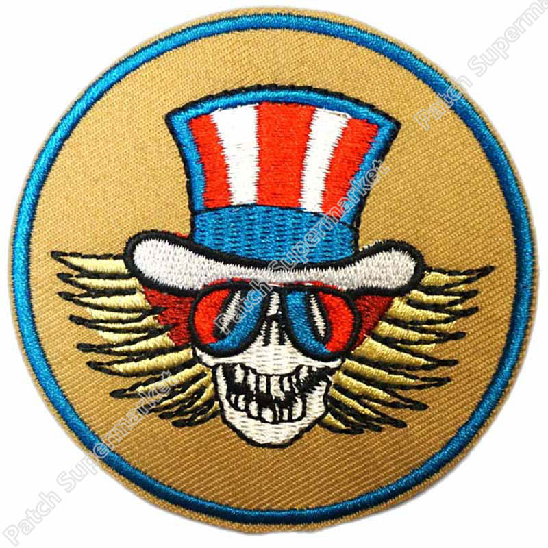 Grateful Dead Embroidered Patch Sew Iron On Applique Rock Band Music Logo Badge
