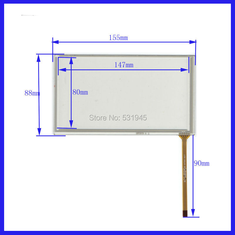 NEW 6.2 Inch Touch Screen 155*88 for industry applications 155mm*88mm for GPS GLASS