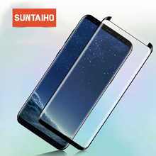Suntaiho 4D Full Cover Tempered Glass For Samsung Galaxy S9 Plus S8 Plus Screen Protector 3D Curved Smaller version Glass film
