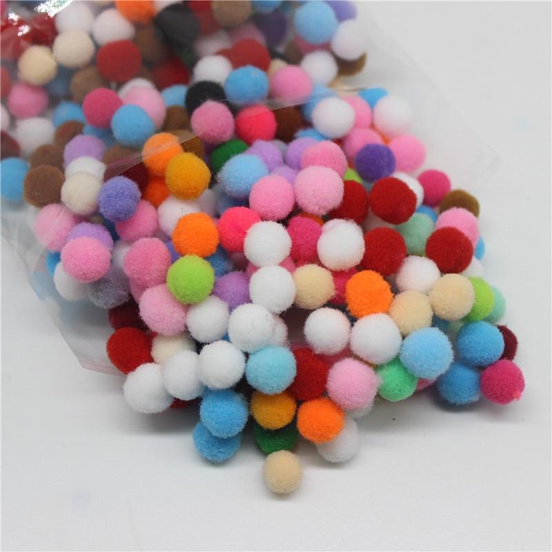 400 шт./пакет помпон 10 мм многоцветный DIY украшения шар помпон детская инструкция развивающие игрушки аксессуары