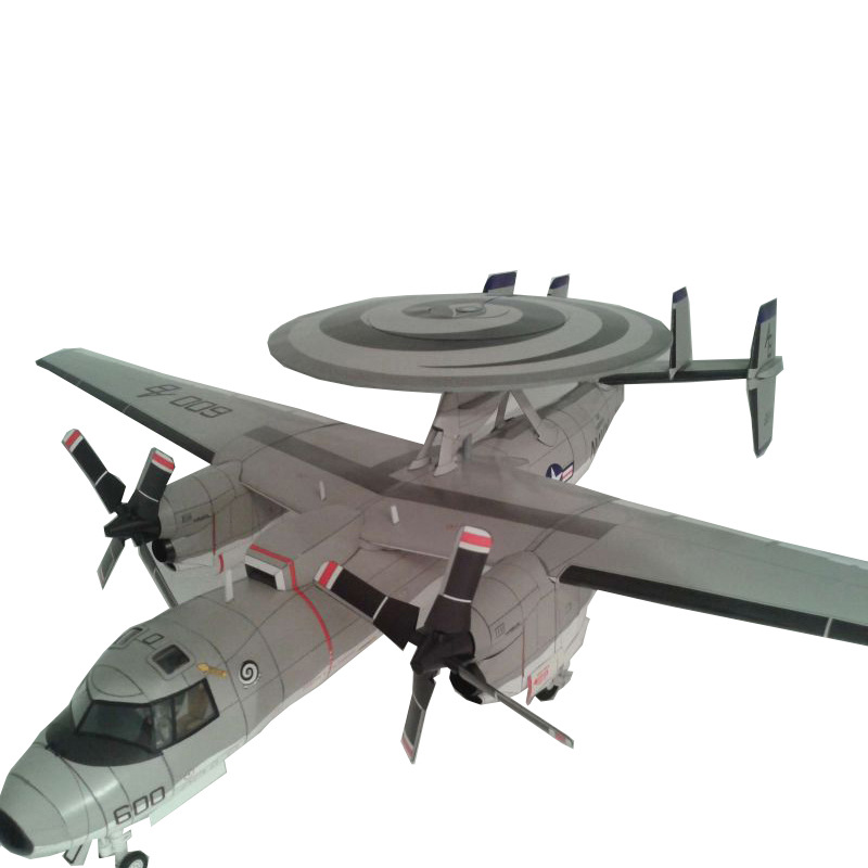 1:33 US E-2C Hawkeye Early Warning Aircraft Military Model 3D Paper Model Papercraft Cardboard House For Children Paper Toys