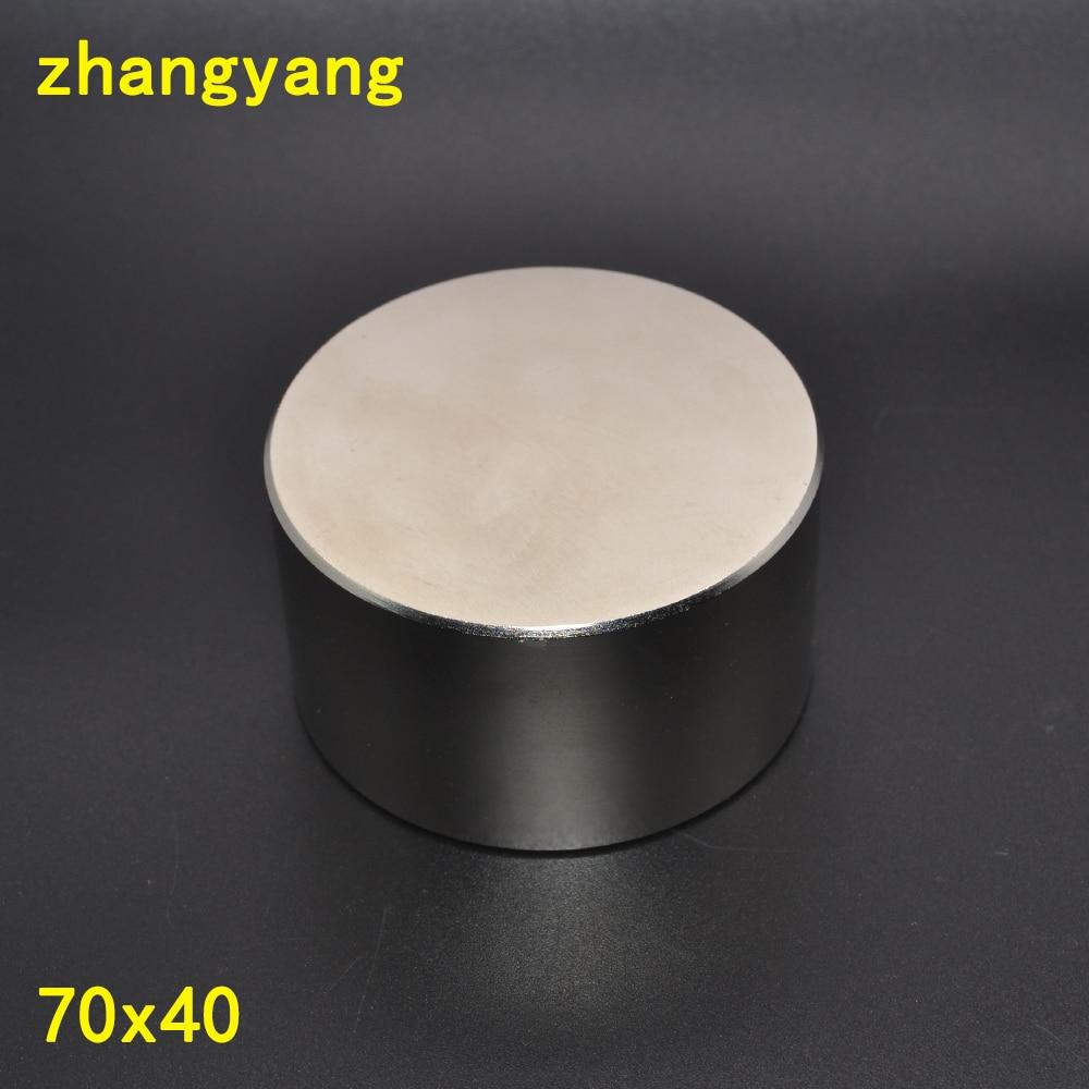 Magnete al neodimio 70x40 N52 terre rare super strong potente rotonda saldatura ricerca magneti permanenti 70*40 70x30 millimetri gallio metallo