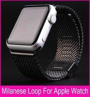Milanese boucle bande de montre en acier inoxydable maille wraps pour Apple Montre magnétique fermeture fermoir bracelet bracelet 38mm 42mm iwatch bande