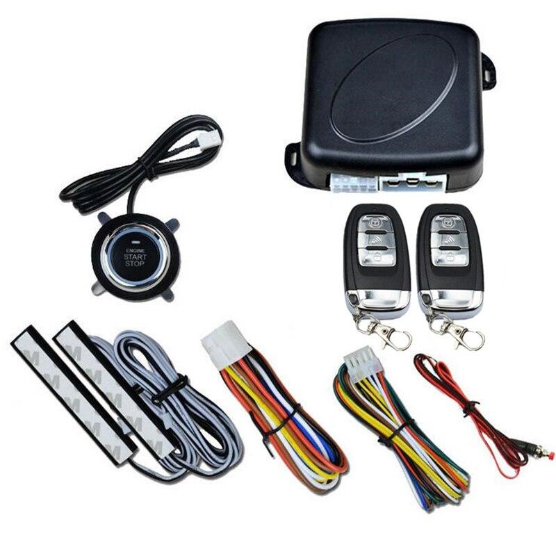 Système d'alarme Auto SUV entrée sans clé démarrage du moteur bouton poussoir démarreur à distance Version améliorée 1 ensemble