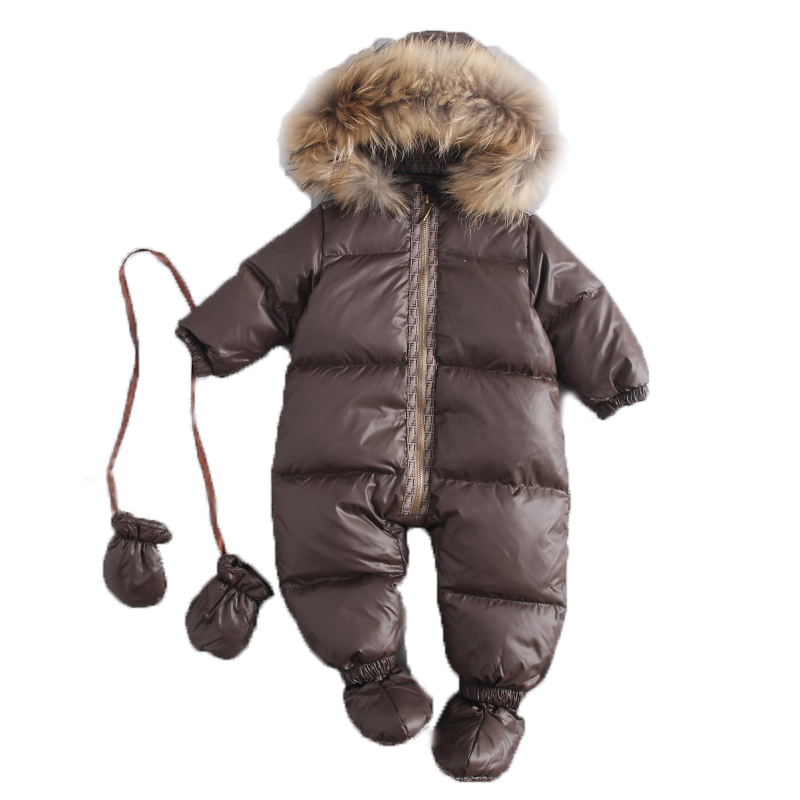 2018 New Born Jumpsuits Baby Winter Duck Down Rompers Girls Boys Overalls Snowsuit Coat Warm Cloth Kids Jumpsuit Baby Outerwear