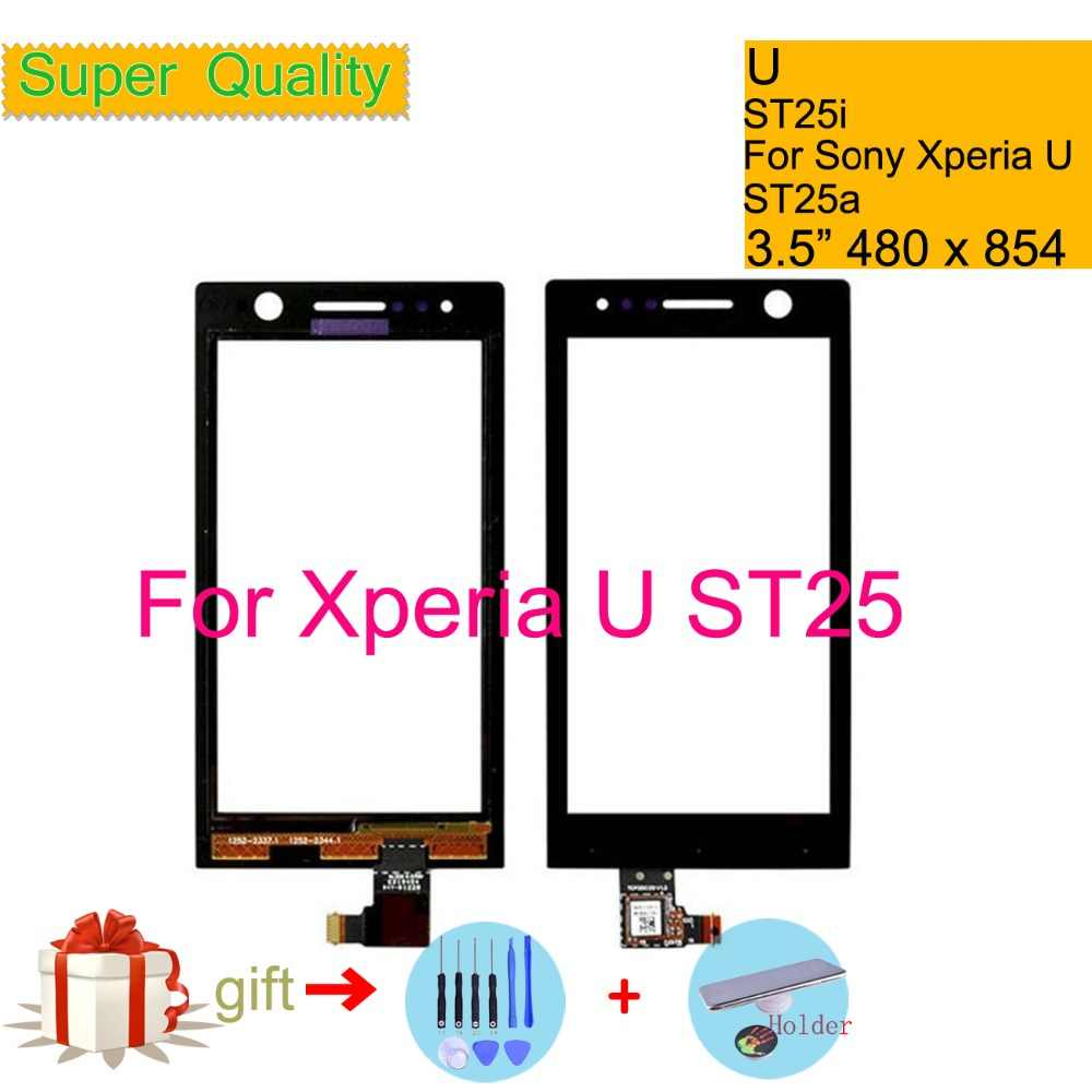 touchscreen for sony ericsson xperia u st25 st25i st25a touch screen digitizer front glass st25 touch [ 1000 x 1000 Pixel ]