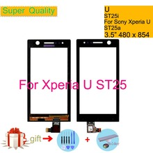Touchscreen For Sony Ericsson Xperia U ST25 ST25i ST25a Touch Screen Digitizer Front Glass ST25 Touch Panel Sensor Lens 3.5 3 5 for sony ericsson xperia u st25 st25i lcd touch screen digitizer sensor outer glass lens panel replacement