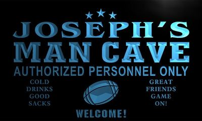 x0009-tm Josephs Man Cave Home Bar Custom Personalized Name Neon Sign Wholesale Dropshipping On/Off Switch 7 Colors DHL