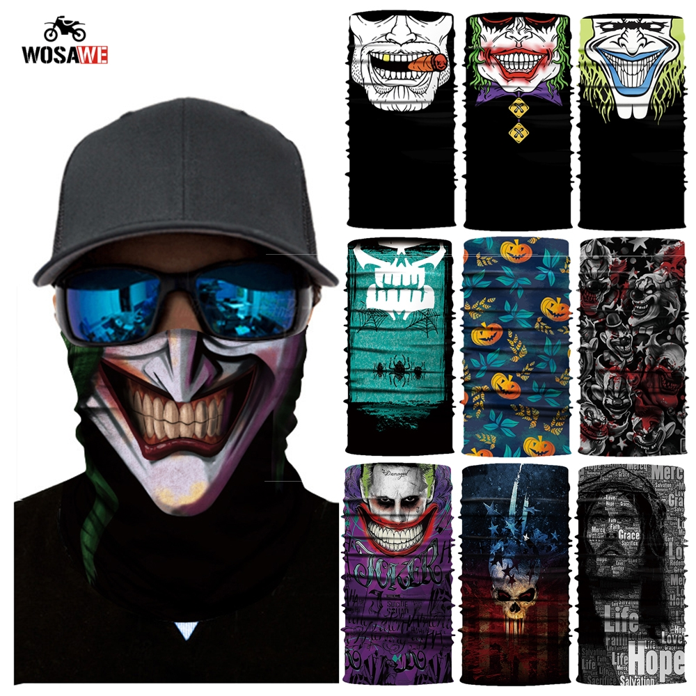 Deadpool Motorcycle Face Shield Mask Balaclava UV Sun Protection Head Scarf Outdoor Sports Bandanas Motorbike Scarves Halloween