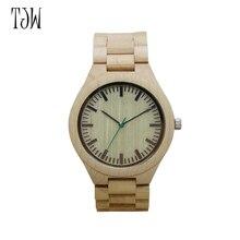TJW 2018 NOVA All-relógio é simples e elegante dos homens de madeira De Madeira relógio