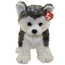 "Pyoopeo Ty Classic 10"" 25cm Slush the Husky Dog Plush Medium Soft Stuffed Animal Puppy Collectible Doll Toy with Heart Tag(China)"
