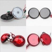 2 pz LED Rotonda di Arresto del Freno Luce di Avvertimento Lampada di Coda Luci Del Riflettore Paraurti Posteriore per Nissan/Qashqai/Trail /Toyota/Corolla auto