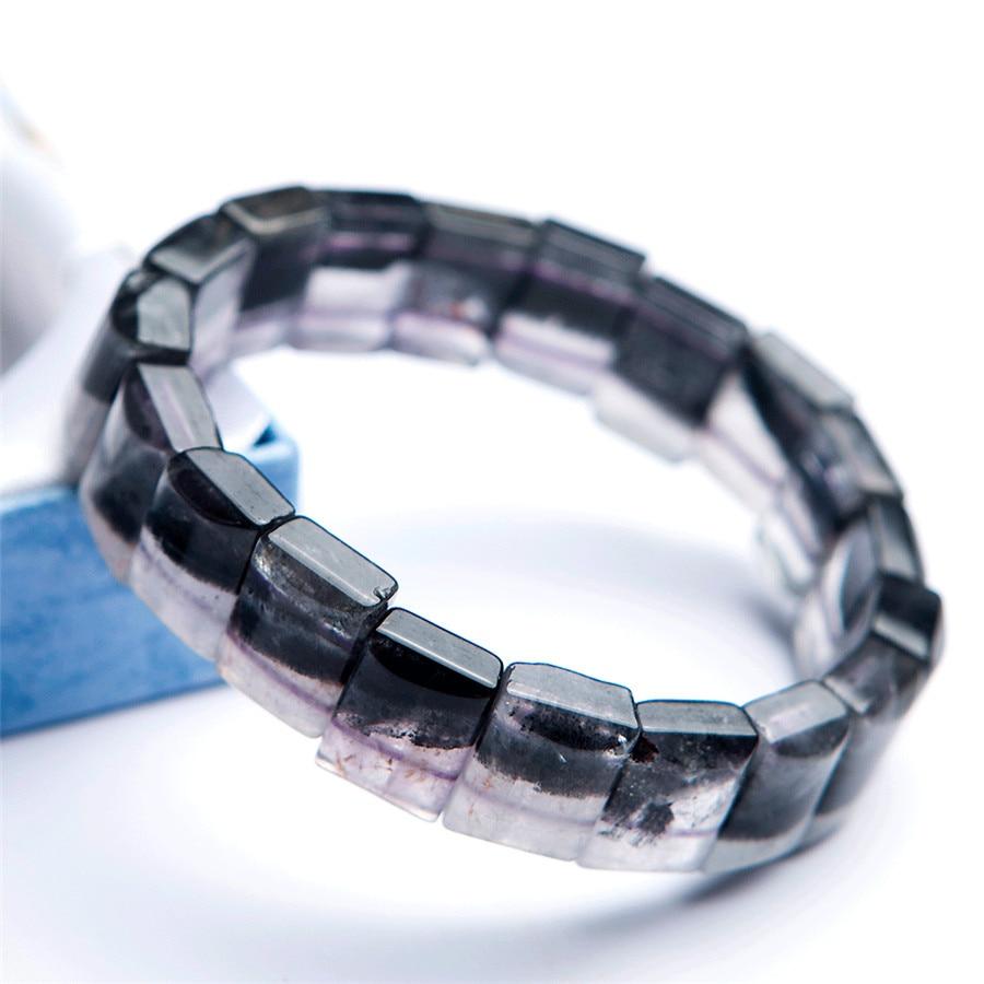 Natural Auralite 23 Canada Gem Stone Rectangle Beads Healing Bracelet 13x6mm AAA