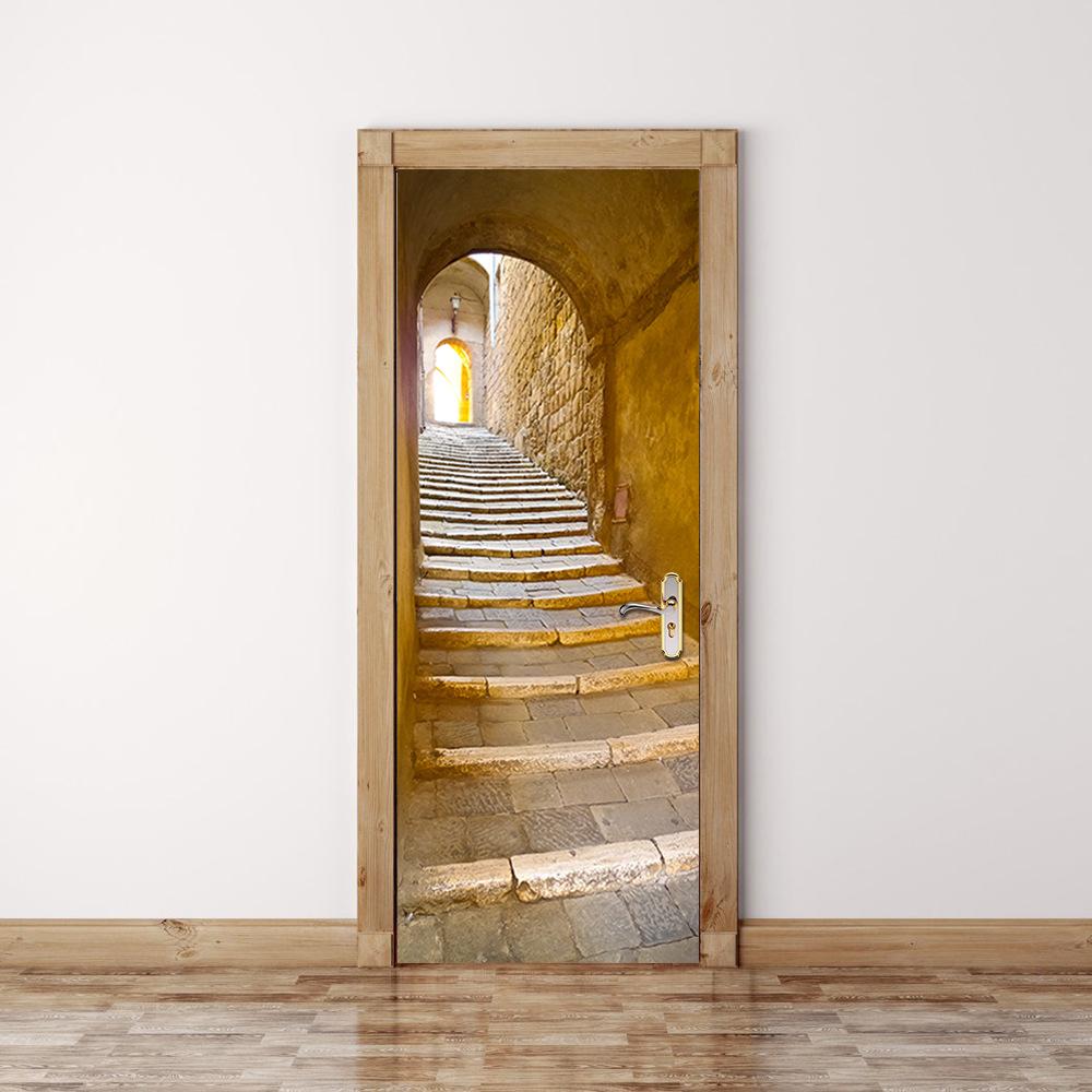 undefined & Funlife 3D Stairway Door Mural StickerSelf adhensive DIY Door ...