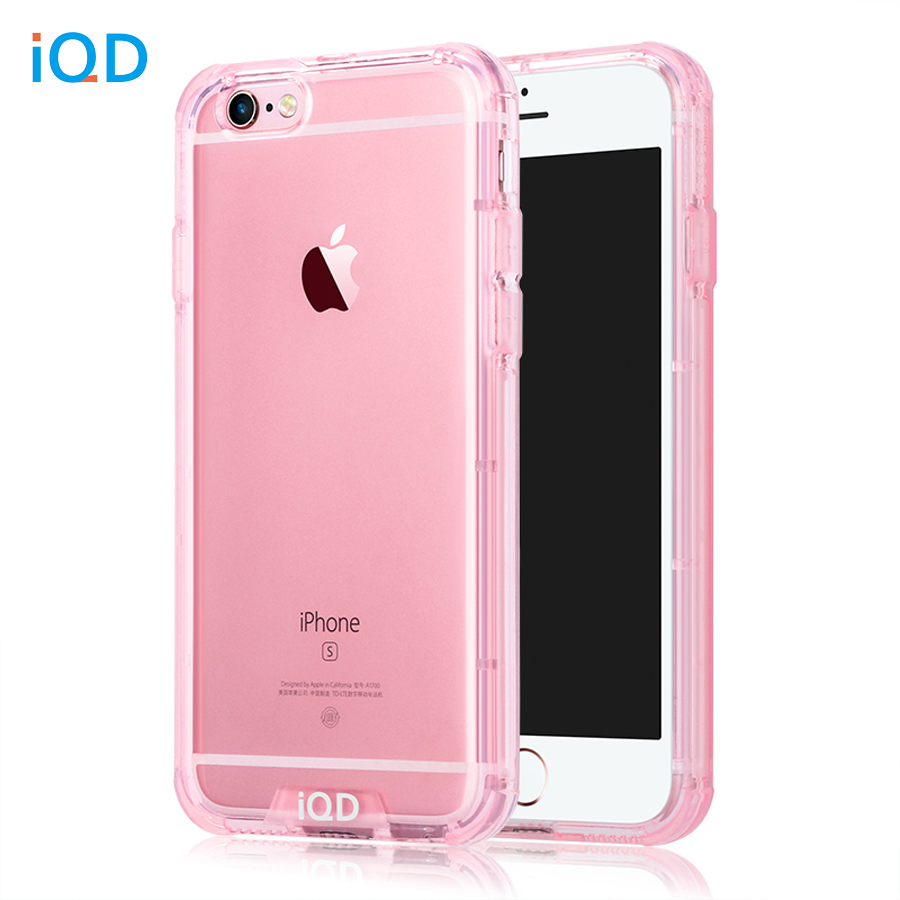 IQD para iPhone 6s Funda a prueba de golpes TPU Bumper Anti-Scratch Rigid Slim Protective Clear Back Cover para iPhone 6 6s Plus Cases