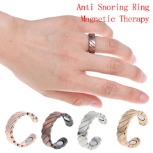 Anti Snore Ring Magnetic Therapy Acupressure Treatment Against Snoring Device Snore Stopper Finger Ring Sleeping Aid