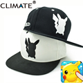 Climate Famous Game Cute Lovely Pokemon GO Pikachu Mewtwo Gotcha! Flat Snapback Caps New Pocket Monster Hat for Adult Men Women