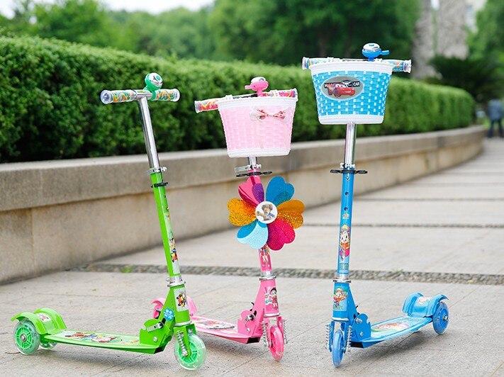 plegable porttil ampliacin nios jugando pie scooters de tres ruedas de coches resbaladiza kick scooters equilibrio formacin juego de juguetes