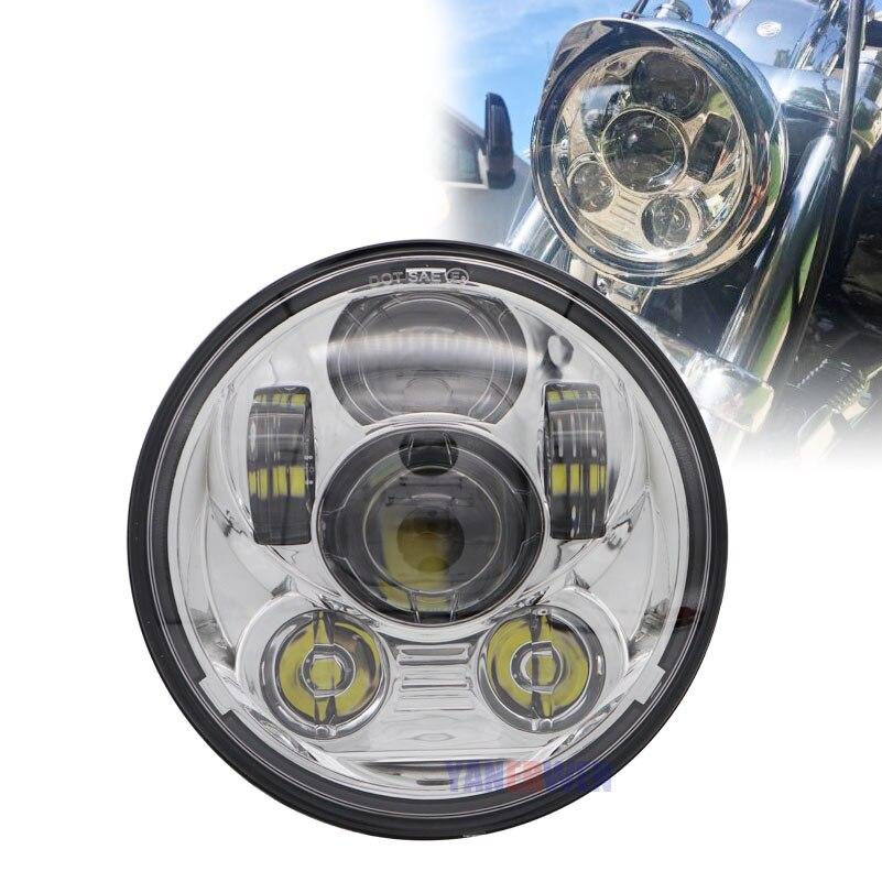 Phare LED Moto projecteur phare pour Moto Sportster Triple Dyna bas cavalier large glisse fer 883 rue Bob DOT approuvé
