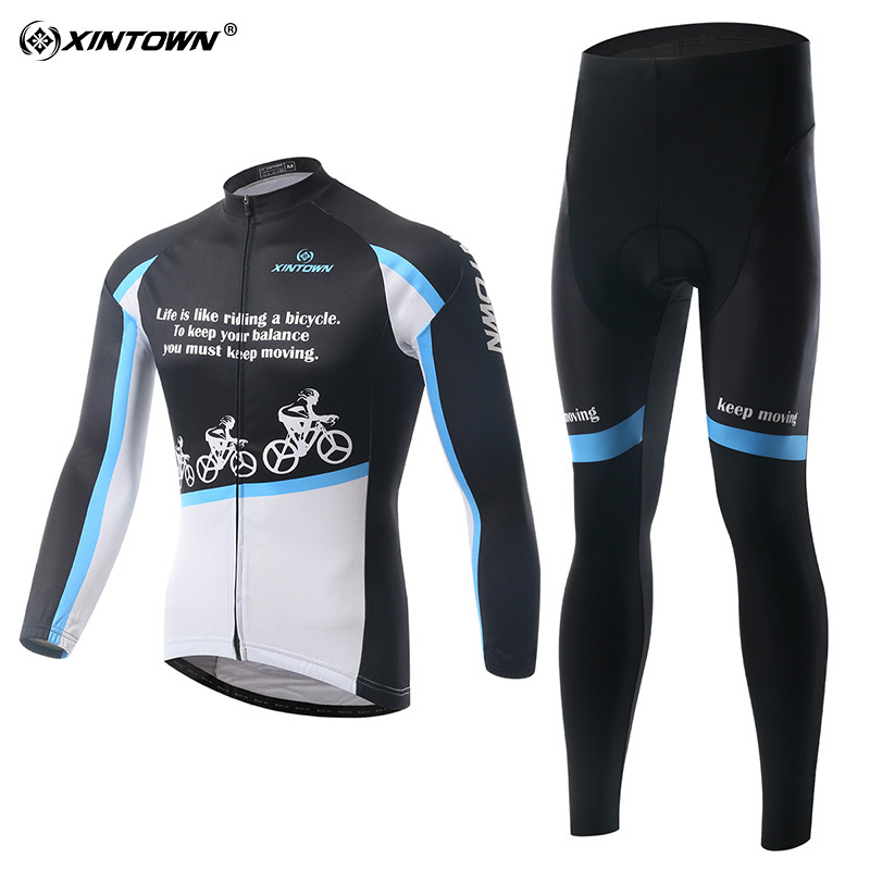 XINTOWN new snow riding jersey long sleeve suit cycling suits spring and autumn wicking clothes