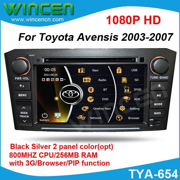 Новинка! Автомобильный DVD gps плеер для Toyota Avensis 2003 2007 800 МГц процессор 256 Мб оперативная память с gps Радио RDS IPOD DVD USB SD PIP функция