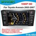 ¡ Nuevo!!! coches Reproductor de DVD GPS para Toyota Avensis 2003-2007 800 MHZ CPU 256 MB de RAM con GPS RADIO RDS IPOD DVD USB SD PIP función