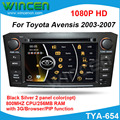 New!!! Игрок автомобиля DVD GPS для Toyota Avensis 2003-2007 800 МГЦ CPU 256 МБ ОПЕРАТИВНОЙ ПАМЯТИ с GPS РАДИО RDS IPOD DVD USB SD PIP функция
