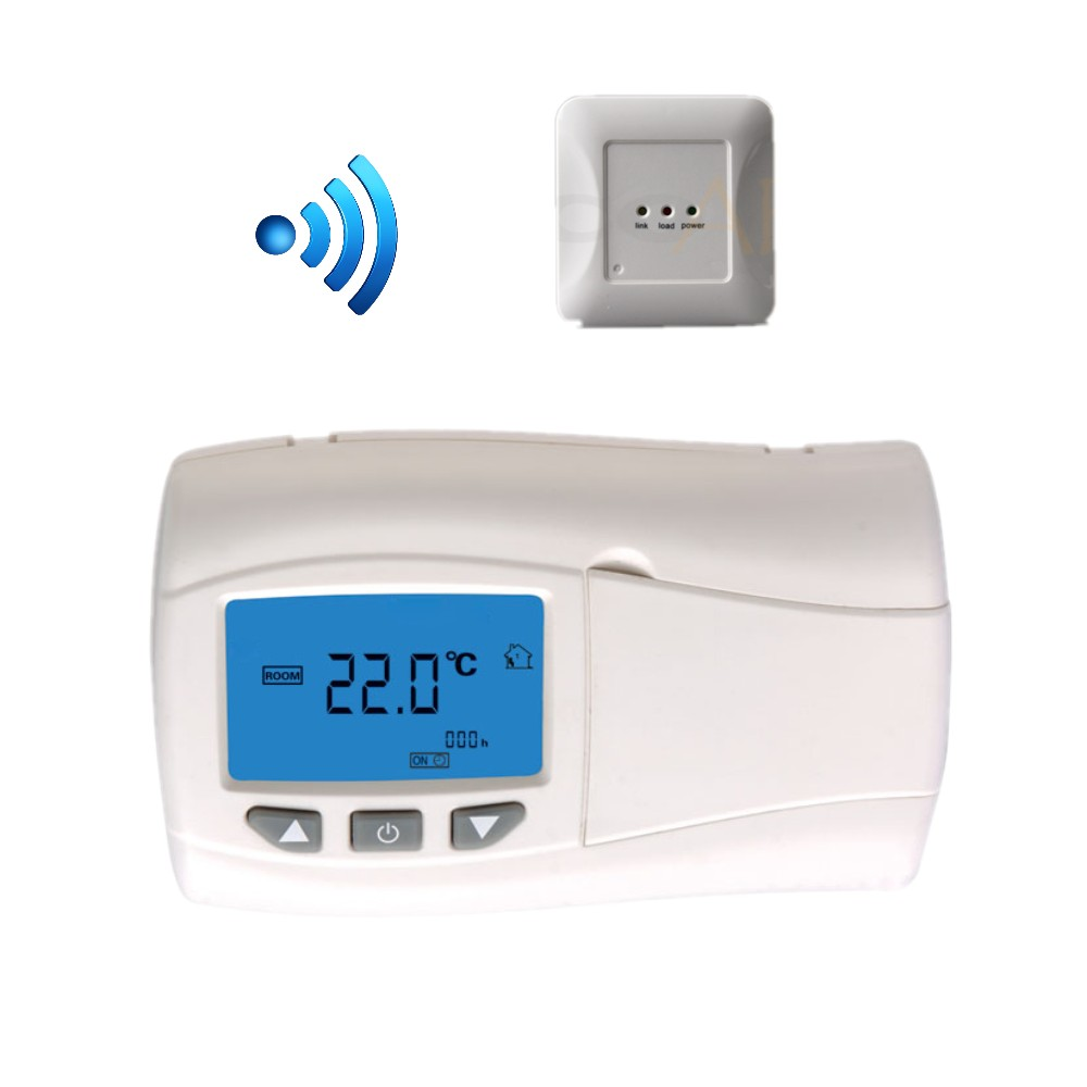 Infrared Heating panel wireless Digital Thermostat temperature controller with LCD Backlight radio frequency control wireless boiler thermostat temperature controller