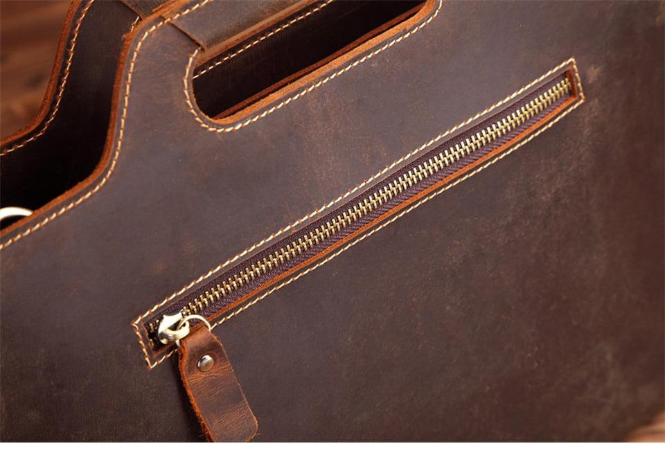 HTB1J02Fk8jTBKNjSZFNq6ysFXXaJ New Genuine Leather Men's Handbags Retro Crazy Horse Leather Men Tote Bag Shoulder Messenger Business Men Briefcase Laptop Bags