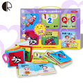 CE Brinquedos Do Bebê 6 Pcs Crianças No Início Da Educação Leituras Kid Aprendizagem Brinquedos Puzzle com Chocalhos de Papel Livros De Pano Para Bebês HT3546