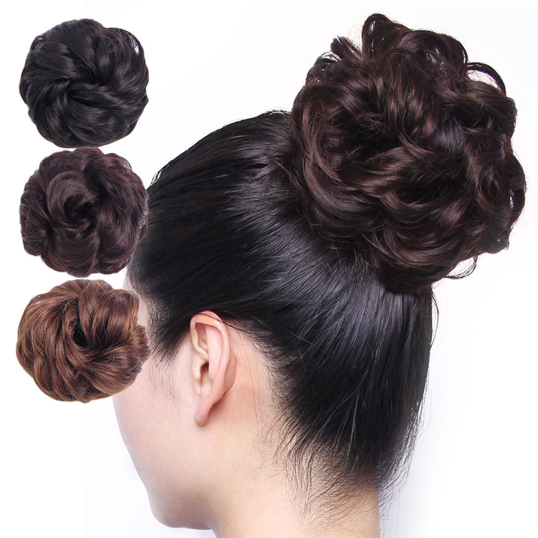 2Pcs Girls Magic Donut Hair Bun Ring Styling Maker Beauty Tool Scrunchie Holder