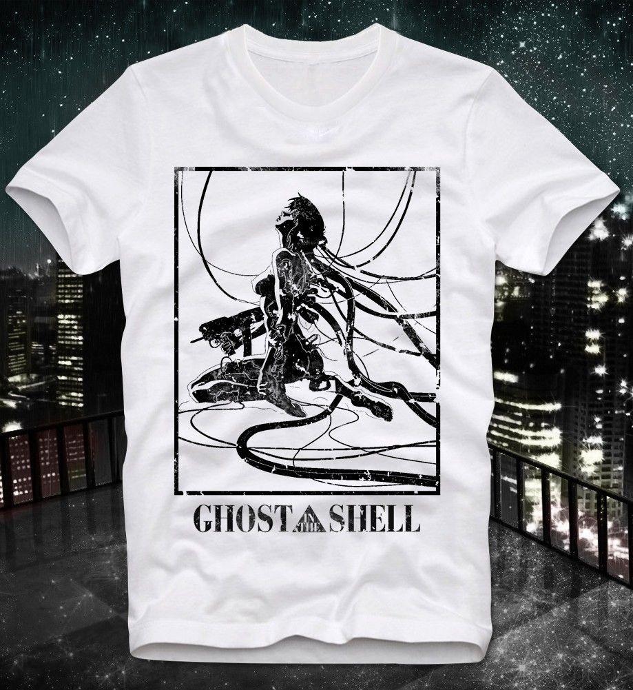 2018 Summer   T     Shirt   New High Quality Ghost In The Shell Manga Anime Japan Japanese Retro Vintage Akira Custom Printed   T     Shirts