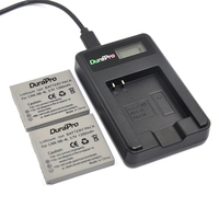 DuraPro 2Pcs NB 4L NB4L Battery LCD USB Charger For Canon PowerShot SD40 SD30 SD200 SD300