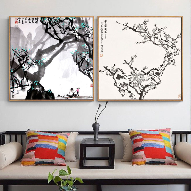 Art Deco Paintings Wall-Art Chinese Picture On Canvas Prints Living-Room Landscape Hd