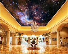 beibehang Interior fashion personalized decorative painting wallpaper fantasy Galaxy super large sky zenith 3d tapety