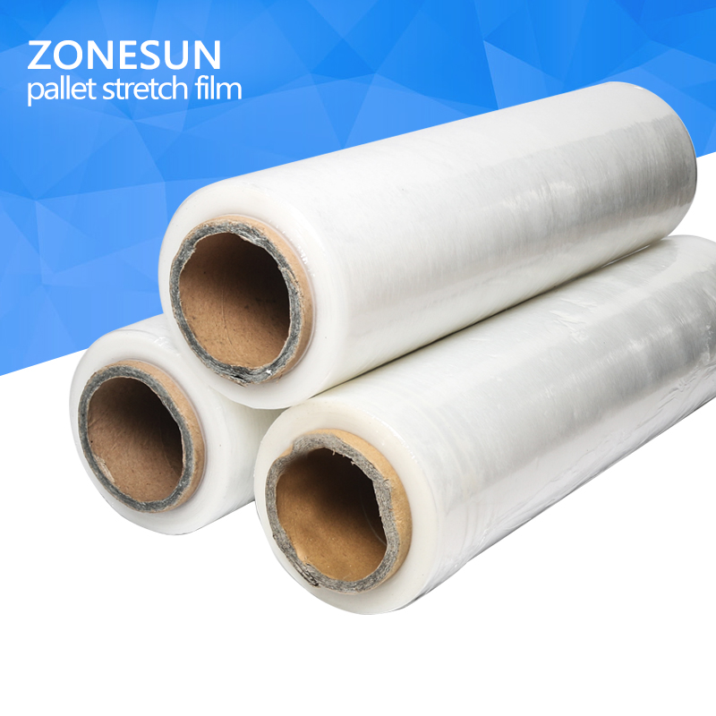 ZONESUN Stretch film, lldpe stretch film, pe stretch film, pallet stretch film 2pcs original hiwin linear rail hgr15 1200mm with 4pcs hgw15ca flange block cnc parts