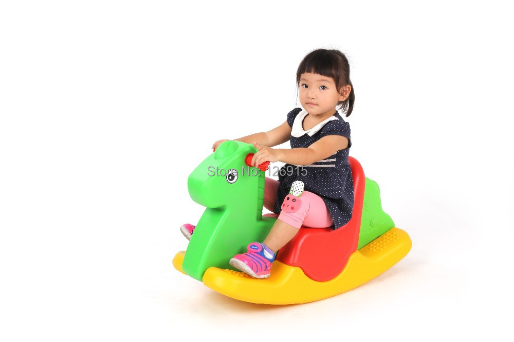 indoor kids plastic rocking horse playground riding animal toys for children in toy sports from. Black Bedroom Furniture Sets. Home Design Ideas